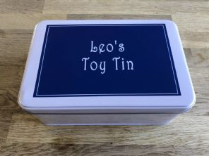 Personalised Boys Toy Tin ANY NAME / WORDS You Want Cars Trucks Marbles Etc - 232982065012
